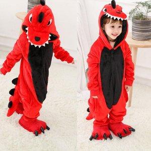Boy Cartoon Sleepwear Hoodie Flannel Kigurumi Bear Pajamas Kigurumi Unicorn Anime Onesies For Kids Halloween Party Costume