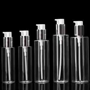 100 / 120/150/200 / 250ml Transparent PET Lotion Flasche Kunststoffdruckpumpe Airless Sprayer Flasche Kosmetische Verpackungsbehälter