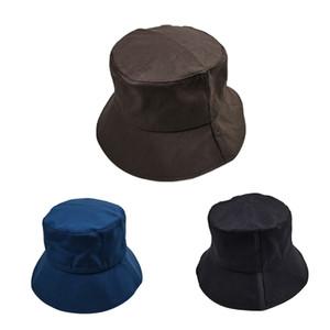 Light side fashion Bucket Hat trend solid color joker sunshade hat high quality convenient folding bucket hat