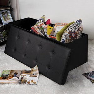 2020 hot products rectangle Shape Practical PVC leather classic footstool cheap Waterproof Black high quality durable and safe footstool