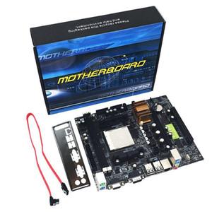 N68 C61 Desktop Motherboard Computer Support Pour Am2 Pour Am3 Cpu Ddr2 + Mémoire Ddr3 Avec 4 Mainboard ports SATA2