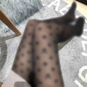 Sexy Frauen Silk Stockings Presbyopie Designer Strumpfhose Beflockung Muster Strumpfwaren Strümpfe Marke Letters Strumpfhosen Großhandel