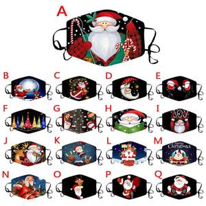 Christmas Face Masks Impresso Xmas Face Masks Anti Poeira-Nevoeiro Floco de Neve Snowflake Capa Respirável Lavável Reusável Designer Face Masks GWA2651