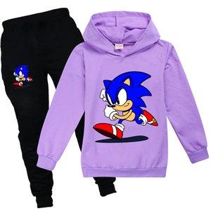 Sonic The Hedgehog Ropa Fall Girls Chicksuit Cool Kids Sudaderas Con Sudaderas y Pantalones Familias Niños Invierno Ropa Conjunto Boutique Trajes 0126