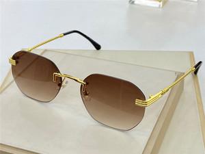 Nuovo disegno di modo occhiali da sole 1431 UV 400 occhiali di protezione di stile della struttura in metallo lente senza telaio di alta qualità semplice popolare best-seller