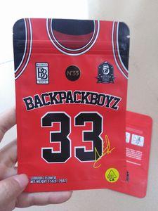nova backpackboyz mylar zipper saco de embalagem erva seca stand up pouch mochila vermelha boyz costume N33 3,5 g