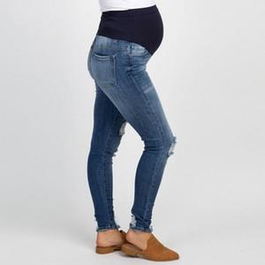 Denim Jeans Calças Maternidade Para Barriga grávida Mulheres Prop Gravidez Leggings Calças Jeans Inverno Estiramento abdominal Clothes