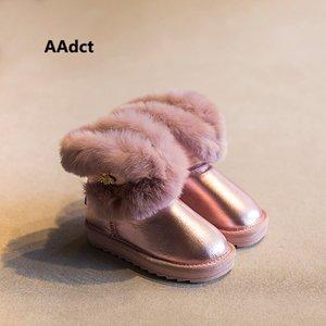 AAdct mano stivali impermeabili ragazze invernali stivali bambini cotone pelliccia calda neve per ragazze di marca scarpe per bambini coniglio capelli 2019 newX1024