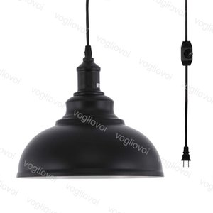 Pendant Lamps 4.5M Hanging 85-265V E27 EU US UK Black Pot Cover Lampshade For Dining Room Restaurant Coffee Bar DHL