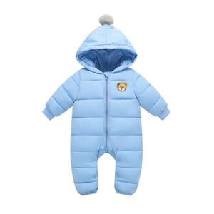 Olekid 2020 Automne Hiver Baby Rompes à capuche Jumpsuit en coton Nouveau-né 1-2 ans Baby filles Combinaison Toddler Boys Snowsuit C0126