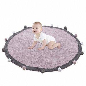 Nordic bebê Mat Tapete de Chão bebê Algodão Tapete Grosso Round Games Atividade Mats infantil Room Decoration Fotografia Props LRuc #