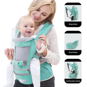 Ergonomic Baby Carrier Infant Kid Baby Hipseat Sling Front Facing Kangaroo Wrap Carrier for Travel 0-36 Months