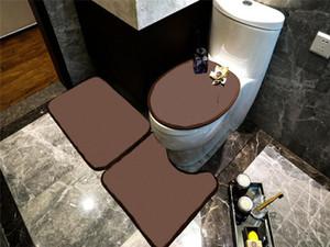 Нескользящая ванная комната для ванны набор туалетных ковриков Мягкие противоскользящие ковры для душа набор домашних туалетных крышкой для душа душевая комната коврики