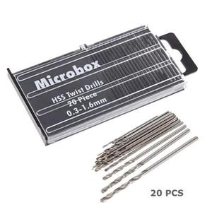 20pcs Tiny Micro Hss Twist Drill Bit Set 0.m-1.6mm Model Craft Precision Repair Tool For Jeweller sqcIMa sports2010