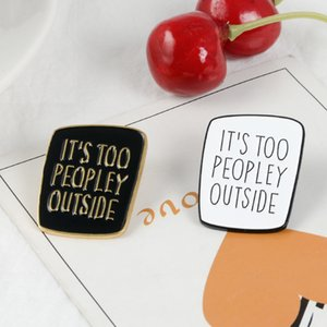 Introverts Enamel Pins Introvert memes Pins Funny Quote Badges Socially Awkward Lapel INFJ