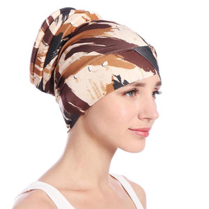 Frauen Mountaineering Turban Hat Indien Cap Muslim Hüte Cap Mode Weiblichen Kopfbedeckung Mädchen Haarschmuck Kopftuch Bandanas