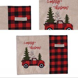 Tabella Moda tappeto a casa pranzo di Natale Rosso Nero Lattice Placemat di Natale dell'automobile Tabella decorazione dell'albero Mats Panno Famiglia lavabile 9 21cy G2