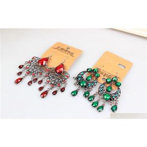 Mezcla aleatoria 10 estilo 20 pares / lote vintage tibetano plata / bronce resina gema gema gema oído sqcftb homes2007