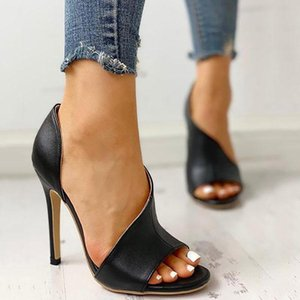 Women Pumps Sexy Thin High Heels Women Summer Sandals Peep Toe Stiletto & Enlargers Heels Office Hollow Out Party Ladies Shoes