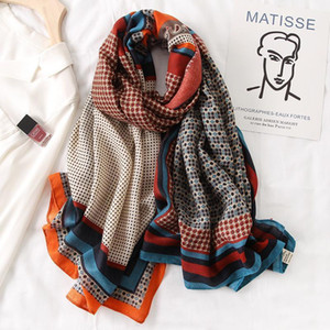 Wholesale Brand Designer Cotton Scarf High Quality Foulard Bandana Long Lrage Shawls Wrpas Winter Warm Scarves 2020 New1