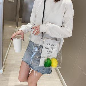 2020 Stylish Jelly Transparent Women Shoulder Handbags Plastic Clear PVC Waterproof Cool Summer Beach Crossbody Messenger Bags