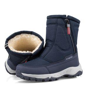 Winter New Thick Couple Snow Boots Plus Velvet Warm Side Zipper Outdoor Casual Short Boots Cold Resistance Men Cotton Shoes 201019