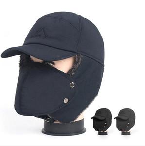 Зимняя Термальная Trapper Hat Мужчины Женщины Vintage Fur уха лоскут Hat Открытый Охота Fur Теплый ветрозащитный Cap DDA718
