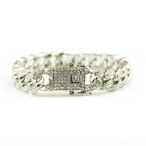 K 2020 Hot Sale Hip Hop Iced Out Bling Cz Men Bracelet Fashion 18 -20cm Long Miami Cuban Link Bracelets Male Hiphop Jewelry Gifts