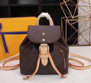 Genuine leather backpack handbag purse women fashion back pack shoulder bag handbag presbyopic messenger bag Backpack Style DHL Free