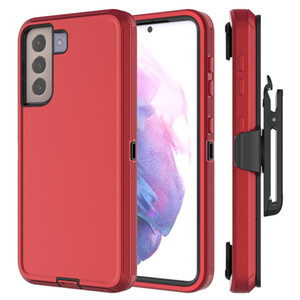 For Galaxy S21 ultra Defender Case with Belt Clip,S21 plus Kickstand, Holster, Heavy Duty, Rugged Rubber Defender Case Factory