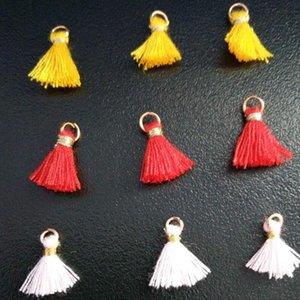100 stück Multicolor Baumwolle Mini Quaste Pend Fransen DIY Schmuck Machen Ohrring Halsketten Kleidungsstück Quasten Spitze Zubehör Material H Jlleqh