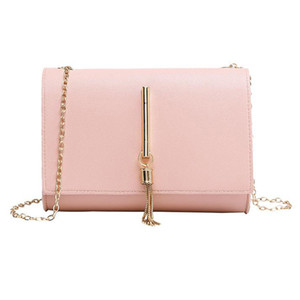 Hot Sale Mini Chain Bags Single Shoulder Small Square Bag Tassel Pendant Shopping Diagonal Cross Package