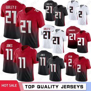 11 Julio Jones 2 Matt Ryan Football Jersey 21 Todd Gurley II Men 18 Ridley 21 Deion Sanders 24 Devonta Freeman 2021 Nuova Camisetas de Fútbol