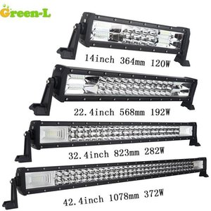 """Green-L LED Light Bar 14"""" 22"""" 32"""" 42"""" Inch Straight Work Light Fit 4WD 4x4 Truck SUV Car Roof Offroad Driving FREE SHIPPING"""
