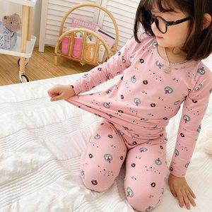 VSVZ Children039; S Termal İç Bebek Bebek Erkek Kız Rahat Giyim Setleri T-Shirt + Pantolon Çocuklar Bankası Pijama Set Giyim Erkek Kız SL