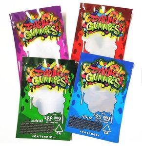 Novo Holograma Dank Gummies Bags 500MG 500mg Dank Gummies gomoso Mylar Bag comestíveis Embalagem gomoso Bag