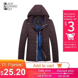 BlackleOpardWolf 2020 Yeni Varış Ince Pamuklu Bir Hood ile Moda Stil Aşağı Ceket Erkekler Için Bahar ZC-C562