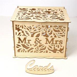 DIY de madeira casar caixa de presente caixa de cartão de casamento sinal em caixas de cartão venda quente com vários padrão 19 5JM2 J1