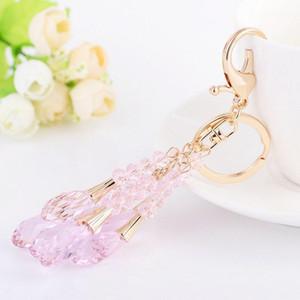 Adojewello Jóias Rhinestone Crystal Crystal Crystal Beads Keyring para Carro Handbag Key Holder Atacado1