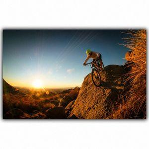 Mountainbike-Wettbewerb Poster Custom Home Dekoration Mode-Silk Gewebe-Wand-Plakat Car Design Tapeten RFUs #