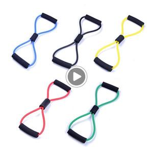 RTON Yoga 8 Mot extenseur en caoutchouc Tubes Tirer la corde Gym Fitness entraînement musculaire Bandes élastiques Résistan corde pour l'exercice Sport