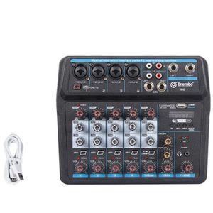 6 canaux numérique portable o Console de mixage avec carte son, Bluetooth, USB d'alimentation 48V pour DJ Recording EU Plug