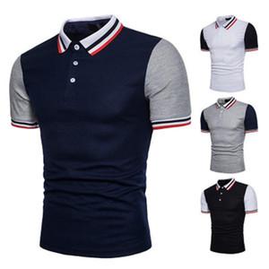 New Polos Tshiwn Stampate Polo Camicie in cotone Breve Abbigliamento uomo Manicotto Camisas Polo Casual Stand Collar Polo maschile