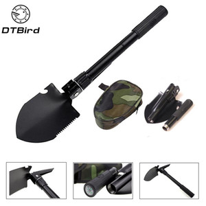 Garden Tools Portable Folding Shovel Multifunction Stainless Steel Survival Spade Trowel Camping Outdoor Cleaning Tool