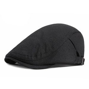 Uomo Cappello Berretti Cotone Newsboy Caps Gatsby per l'autunno inverno und Casual Solid Caps di guida