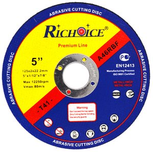 RICHOICE 125mm 5 inch* 1.0mm Abrasive Cutting Disc For Metal