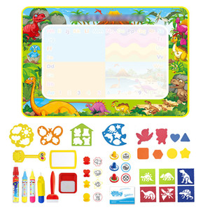 Kids Water Doodle Mat Dinosaur Style Drawing Mat Educational Toys Coloring Books Magic Painting Board Toys Set Children Gifts LJ200907