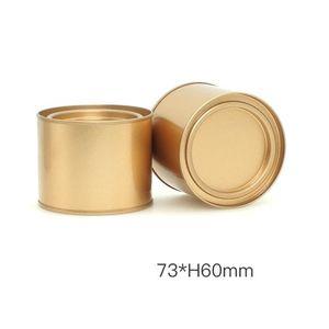 250 ملليلتر الشاي يمكن علاج وعاء جرة حاويات كوميسيستيك المحمولة ختم الشاي المعدنية يمكن أن الصفيح جولة شمعة المنزل تخزين المطبخ يمكن FFA449 71 G2