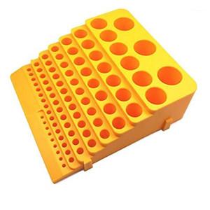 Portable Drill Bit Reamer Rack 85 Holes Storage Tool Box Organiser Plastic Accessories Milling Cutter Desktop Thickened1
