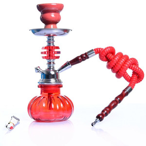 Selling Hookah Small Hookah Shisha Pipe Set with Hose Bowl Tongs Charcoal Tray Narguile Accessories for Outdoor Travel Gift K640G